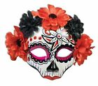Mask Day of the Dead Flowers eyeglass adult womens Halloween costume accessory