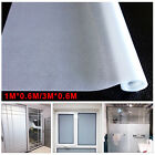 1m/3m Privacy Bedroom Bathroom Home Glass Frosted Window Door Film PVC Sticker