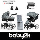 Venicci 2 in 1 Baby System Pushchair Pram Carrycot Maxi Cosi Adaptors Denim Grey