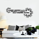 vinyl wall decal office quote hard work