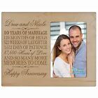 Personalized 10th 4x6 Anniversary Wedding Gift Picture Photo Frame Engraved