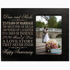 Personalized 25th  4x6 Anniversary Wedding Gift Picture Photo Frame Engraved