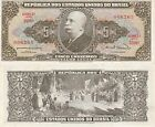 Brazil 5 Cruzeiros Banknote (1963)  Uncirculated Condition,Cat#176-B-6265