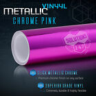 Chrome Mirror Pink Vinyl Wrap Roll Sheet Sticker Decal - Bubble Free Air Release