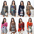 Women's Ladies Loose Plus Size US 14 Long Sleeve Pullover Blouse Top Sweater