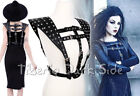 Restyle Studded Armor Shoulder Pad Strap Nu Goth Black Faux Leather Harness Belt