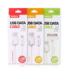 Original REMAX USB Data Cable Cord for iPhone 4 4S 5 5S 6 6S Plus Android Phone
