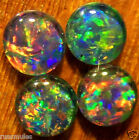 OPAL TRIPLETS FOR STUDS OR EARRINGS 4 of 6 mm diameter 2.4 carats A+ grade