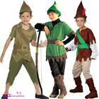 Boys Robin Hood Prince Of Thieves Book Day Childs Kids Fancy Dress Costume + Hat