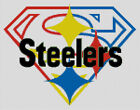 Cross stitch chart, Pattern, Pittsburgh, Super, Steelers, NFL, US, Football