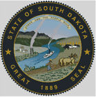 Cross stitch chart, pattern, South Dakota, State, Seal, Emblem, Badge, Flag, USA