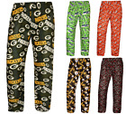 NFL Football Mens Comfy Sleep Lounge Repeat Team Logo Print Polyester Pants