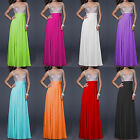 New sequins chiffon long formal evening wedding gowns prom party women dresses
