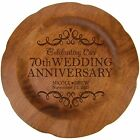 Personalized 70th Wedding Anniversary Round Plate Custom Engraved