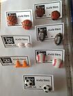 Resin Sports Various Balls Stud Earrings - Free Shipping - Various Color & Cones
