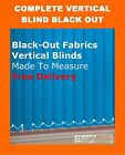 Vertical Blinds Black Out Complete Made to Measure Blind