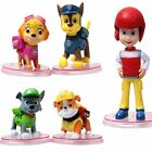 8 / 12 Pcs PAW Patrol Figures Cartoon Character Toy Gift Cake Toppers Bauble