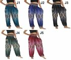 Hippie Pants Maxi Baggy Boho Gypsy Peacock Harem Pants Trousers US Size 0-12