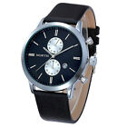 Swiss Men Watch Luxury Quartz Casual Leather Strap Sports Wristwatch Big Dial