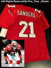 NEW Deion Sanders Atlanta Falcons 21 Red Mens Throwback Jersey