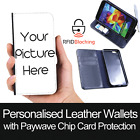 RFID Protected Personalised Wallet Leather Case Print Cover for Apple iPhone