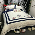 1000TC Egyptian Cotton Submarine World Embroidery Quilt Doona Duvet Cover Set