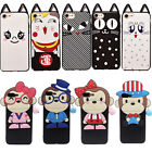 3D Cute Cat Money Animal Phone Cover For iPhone 6 6s 7 Plus Case Silicone Shell