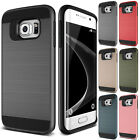 Hybrid Shockproof Camera Protector Brushed Slim Case For Galaxy S3S4S5S6S7 Edge