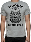 Star Wars Chewbacca Wookie Of The Year Sci-Fi Action Movie Funny Grey T Shirt $25.95 AUD