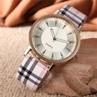 Fashion Casual Analog Women Leather Band Stainless Steel Quartz Wrist Watches AL