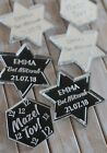 BAT MITZVAH Mazel Tov Silver Mirror Acrylic PERSONALISED Table Scatter Confetti