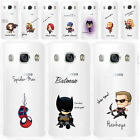 Cute Super Hero Transprant Soft TPU Case Cover For Samsung S8/S7 Edge/Note 8