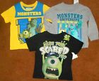 MONSTERS INC T-SHIRTS SIZE 2T-3T, BRAND NEW. FREE SHIPPING!