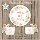 RUSTIC ROSES 50TH 60TH 70TH BIRTHDAY PARTY PERSONALISED ROUND GLOSS STICKERS X12