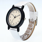 Fashion Men's Leather Band Stainless Steel Sport Military Quartz Wrist Watch