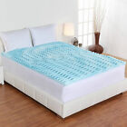 "2"" Authentic Comfort MEMORY FOAM MATTRESS ORTHOPEDIC GEL PAD BED COVER"