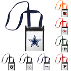 NFL Football Womens Clear Crossbody Logo Tote Bag - Pick Team