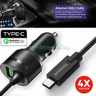 Qualcomm Certified Quick Charge 3.0 Tronsmart USB Type-C 3A Fast Car Charger NEW