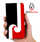 RFID Protected Maori Flag PU Leather Phone Wallet Case Cover for Samsung Galaxy