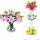 Artificial Lily Wedding Bridal Bouquet Heads Fake Flowers DIY Home Decor