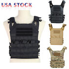 Tactical Military JPC Molle Modular Airsoft Plate Carrier Vest w/ 2 Vest Pane
