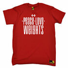 Peace Love Weights T-SHIRT love bodybuilding training gym funny birthday gift