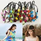 new Colorful Flower Bride Party Wedding Crown Boho Floral Wreaths Head Hair Band