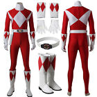 Power Red Ranger Cosplay Costume