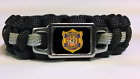 Thin Silver Line Delaware Department of Corrections DOC Patch Paracord Bracelet