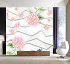 3d Flowers And Polylines 3886 Wallpaper Decal Decor Home Kids Nursery Mural Home