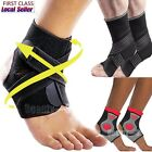 Sports Medical Adjustable Ankle Support Elastic Brace Guard Running Football DD