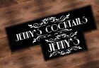 PERSONALISED COCKTAIL BEER BAR RUNNER IDEAL FOR HOME PUB BEER MAT OCCASION