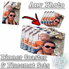 Personalised Dinner COASTER - ANY PHOTO / TEXT gift present coasters mug cup