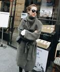 Genuine Mink Cashmere Sweater Women Cardigan Knitted Jacket Long Fur Coat New